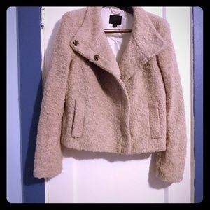 "Banana Republic ""Lady"" boucle minky pink jacket"